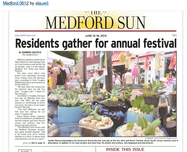 Beaucycled.. On The Front Page of The Medford NJ Newspaper!